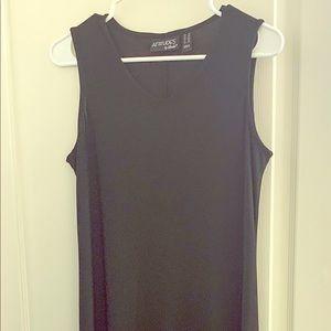 Attitudes by Renee Black Sleeveless Maxi Dress S